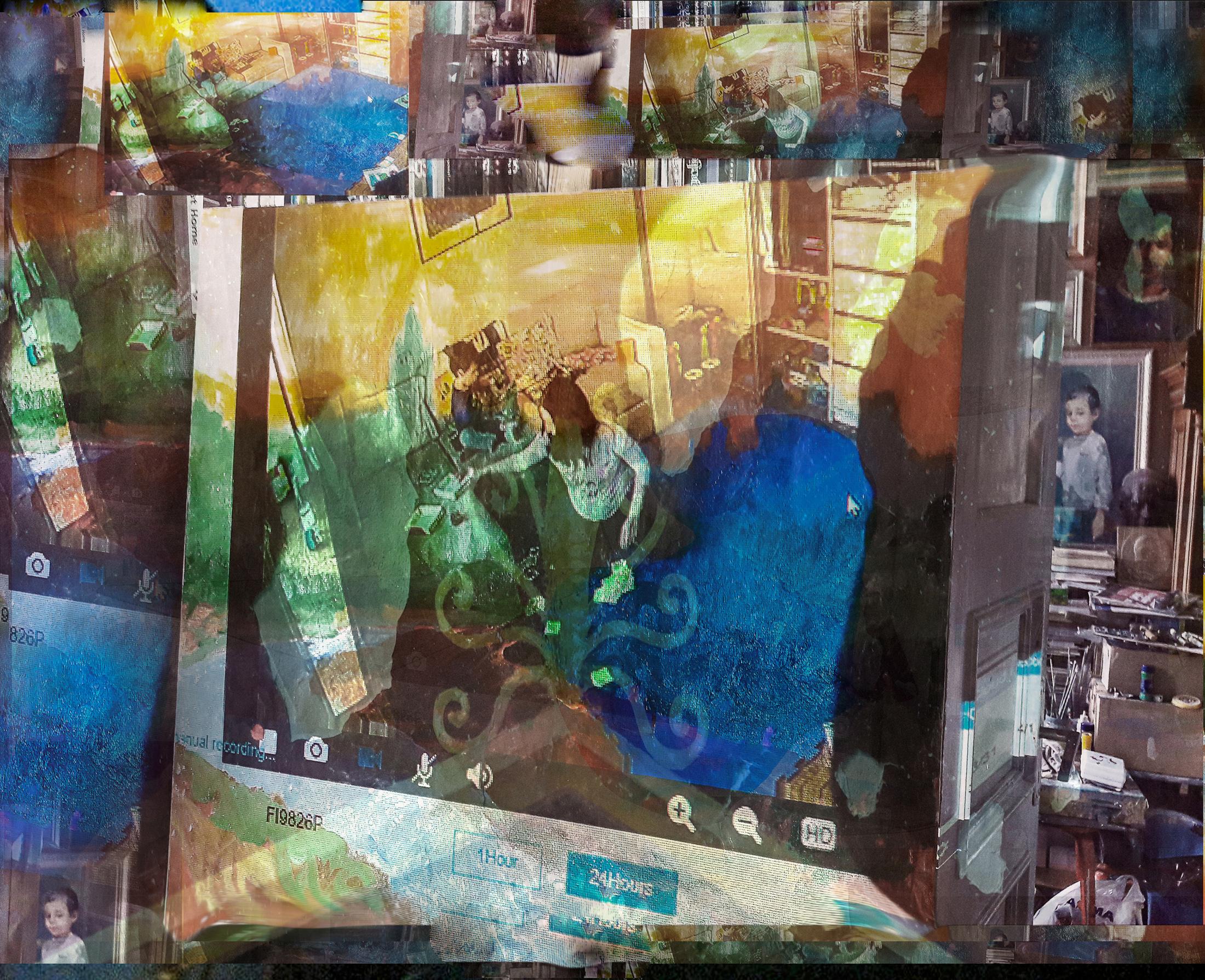 Daumantas Pilipavicius. Family window, 2019, 80x100cm., photo print, aluminum plate