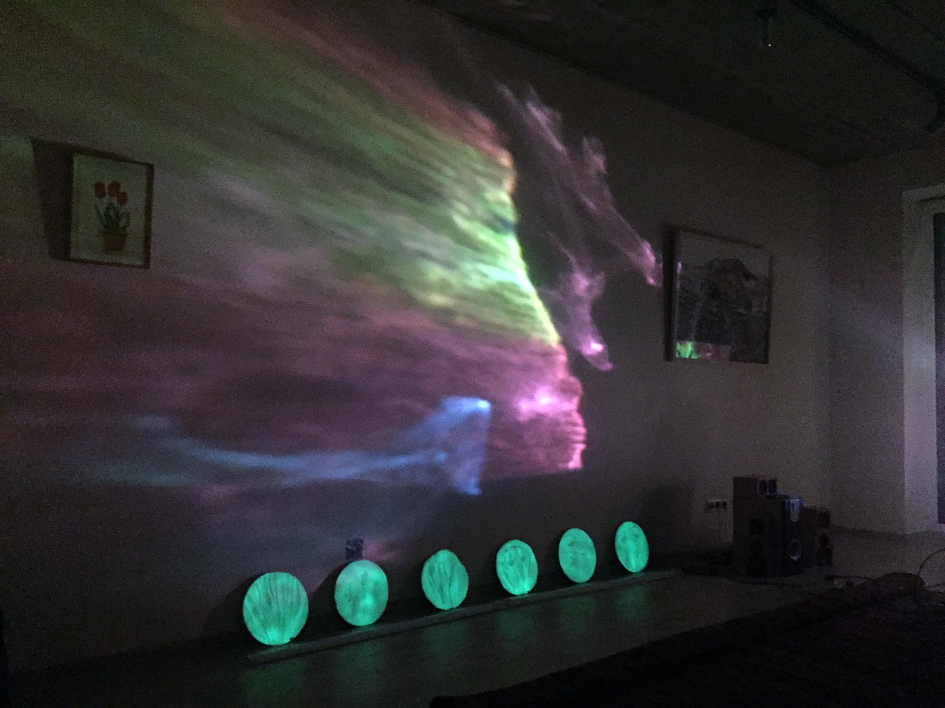 M.Marcelionyte_Tulpiu menuliai_Instaliacija(b)_Gipas_fosforas_dienos sviesos lempa)apie300cm_2018