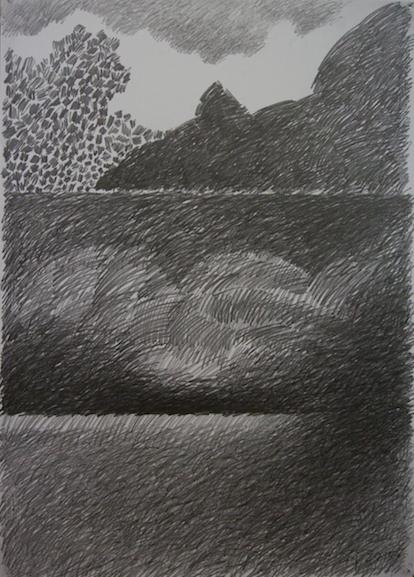 Piešinys. 2015, pop. grafitas, 90x64cm.